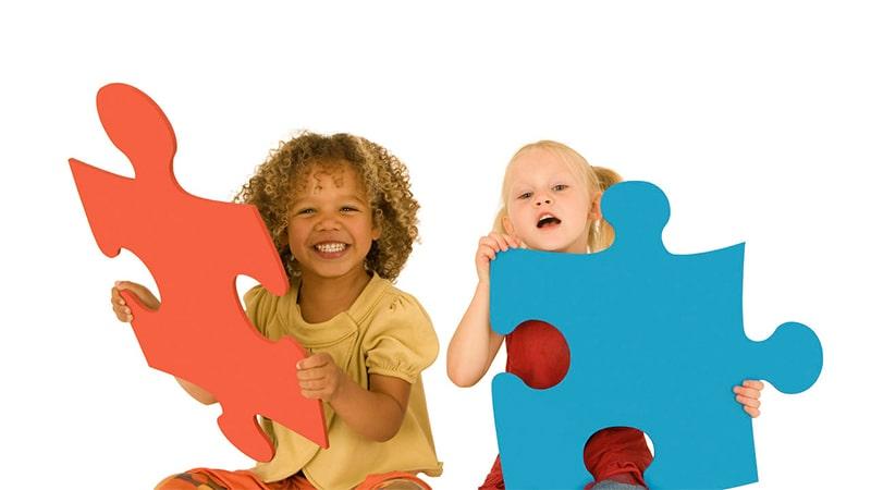 پازل ها و لوگوها برای خلاقیت کودکان